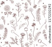 floral vector seamless pattern... | Shutterstock .eps vector #1172232292