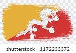 grunge brush stroke with bhutan ...   Shutterstock .eps vector #1172233372
