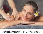 senior woman in spa salon... | Shutterstock . vector #1172233858