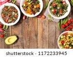assorted vegetable salad bowl | Shutterstock . vector #1172233945