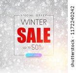 winter 50  sale  special offer. ...   Shutterstock .eps vector #1172240242