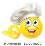 an emoji chef cook cartoon...   Shutterstock .eps vector #1172240272
