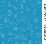 blue vector seamless pattern of ... | Shutterstock .eps vector #1172246845