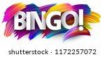 bingo sign. colorful brush...   Shutterstock .eps vector #1172257072