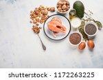 healthy fat source. top view... | Shutterstock . vector #1172263225