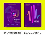 music wave poster. party flyer... | Shutterstock .eps vector #1172264542