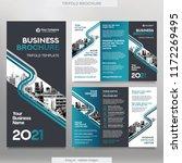 business brochure template in... | Shutterstock .eps vector #1172269495