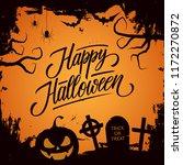 happy halloween celebrate card... | Shutterstock . vector #1172270872