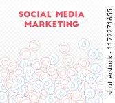social media icons. social... | Shutterstock .eps vector #1172271655