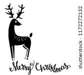 reindeer. christmas card. merry ... | Shutterstock . vector #1172272132
