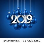 blue 2019 new year background...   Shutterstock .eps vector #1172275252