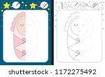 preschool worksheet for... | Shutterstock .eps vector #1172275492