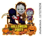 halloween poster design with... | Shutterstock .eps vector #1172278258