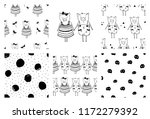 collection of seamless pattern  ... | Shutterstock .eps vector #1172279392
