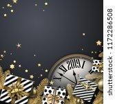 grey 2019 new year background... | Shutterstock .eps vector #1172286508