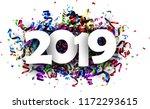 white 2019 new year 3d... | Shutterstock .eps vector #1172293615