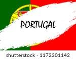 brush stroke background with... | Shutterstock .eps vector #1172301142