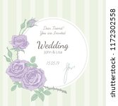 wedding invitation at vintage... | Shutterstock .eps vector #1172302558