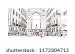 landmark building view of... | Shutterstock .eps vector #1172304712