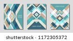 collection of cover page... | Shutterstock .eps vector #1172305372