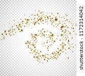 golden confetti on transparent... | Shutterstock .eps vector #1172314042