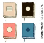 set with sketches of books.... | Shutterstock .eps vector #117231676