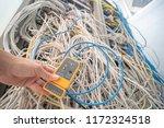 technician repair ethernet... | Shutterstock . vector #1172324518