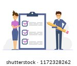 business man with a giant... | Shutterstock .eps vector #1172328262