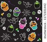 happy halloween cupcakes  with... | Shutterstock .eps vector #1172331442