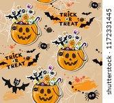 happy halloween pumpkin with... | Shutterstock .eps vector #1172331445