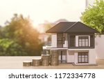 model house with your deposit...   Shutterstock . vector #1172334778