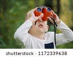 the little boy young researcher ...   Shutterstock . vector #1172339638