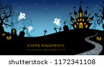 happy halloween seamless... | Shutterstock .eps vector #1172341108