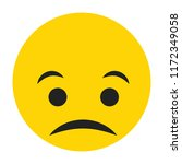 emoji sad face vector isolated... | Shutterstock .eps vector #1172349058