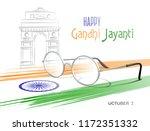 october 2. happy gandhi jayanti.... | Shutterstock .eps vector #1172351332