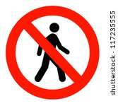 no entry sign | Shutterstock . vector #117235555