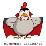 cartoon style vampire chicken... | Shutterstock .eps vector #1172356492