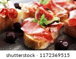 sandwich with prosciutto or... | Shutterstock . vector #1172369515