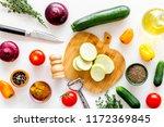 cooking vegetable stew concept. ... | Shutterstock . vector #1172369845