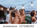 group of beautiful women and... | Shutterstock . vector #1172385292