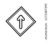 drive straight icon vector... | Shutterstock .eps vector #1172387395