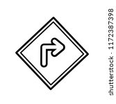 turn right icon vector... | Shutterstock .eps vector #1172387398