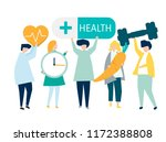 character of people holding... | Shutterstock .eps vector #1172388808