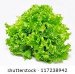 Fresh Green Lettuce Isolated O...