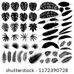 vector set of silhouettes of... | Shutterstock .eps vector #1172390728