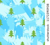 seamless pattern with fir trees ... | Shutterstock .eps vector #1172390938