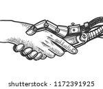 mechanical human robot... | Shutterstock .eps vector #1172391925