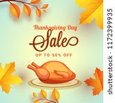 thanksgiving day sale upto 50 ... | Shutterstock .eps vector #1172399935