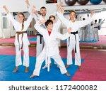 portrait of happy children and... | Shutterstock . vector #1172400082