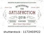 """the satisfaction"" font. hand... | Shutterstock .eps vector #1172403922"